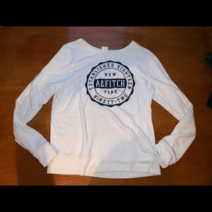 Abercrombie and Fitch logo long sleeve sweater